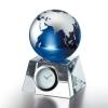 卒業記念品:[クリスタルオーナメント] グラスワークスナルミ ブルーアース デスククロック(S)