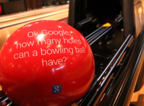 Ok google,how many holes can a bowling ball have?