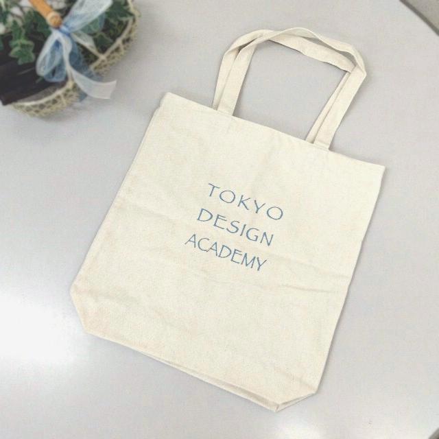 東京デザイン専門学校、学校見学のエコバッグを名入れ制作